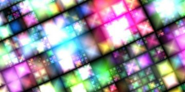 Neon Squares غلافات تويتر